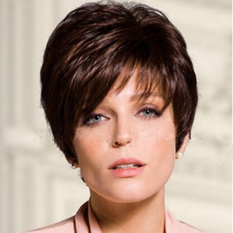 Großhandel 8 Zoll Frauen Mode Amerikanische Frisuren Perücke Kurze