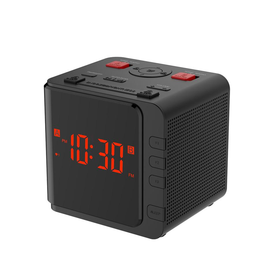 AM / FM Digital Radio Uhr EU / US Stecker LED Licht Dimmer Tabelle Snooze Sleep Timer Uhr Batterie Backup Dual Alarm