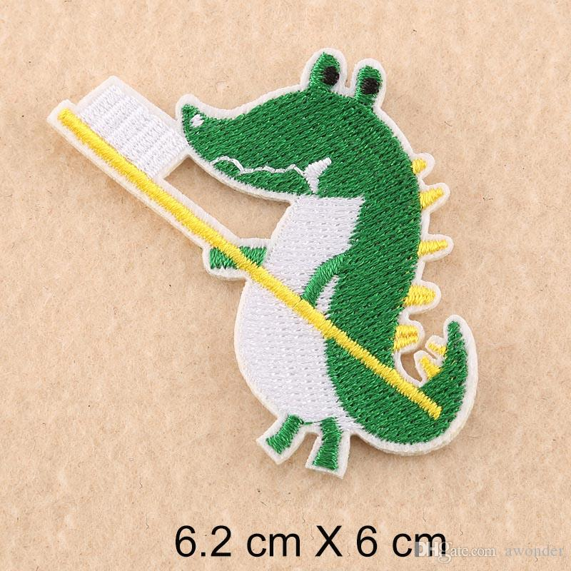 Crocodile Giraffe Lion Cat Mend Embroidery Patches Cartoon Animals Cactus Star Sew Iron On Applique Patch Badge DIY Baby Kids Apparel Badges