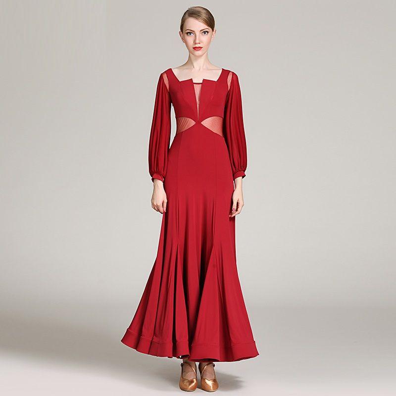 2019 2019 Dancewear Standard Ballroom Dress Social Dresses Rumba Flamenco  Dress Dance Wear Spanish Costume Ballroom Waltz Dress Dancing Clothes From  ... aaff6cfbb