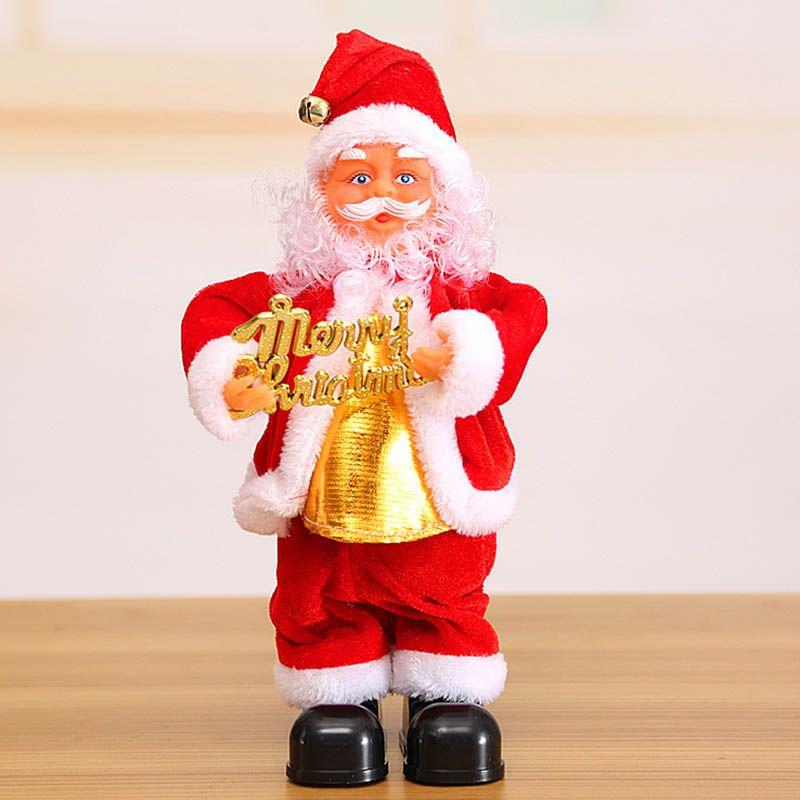 28ffeb6f336aa Cute Santa Claus Dancing Singing Music Toy Plush Christmas Dolls Electric  Toys Saxophone Guitar HG99 Christmas Balls Christmas Baubles From  Blithenice