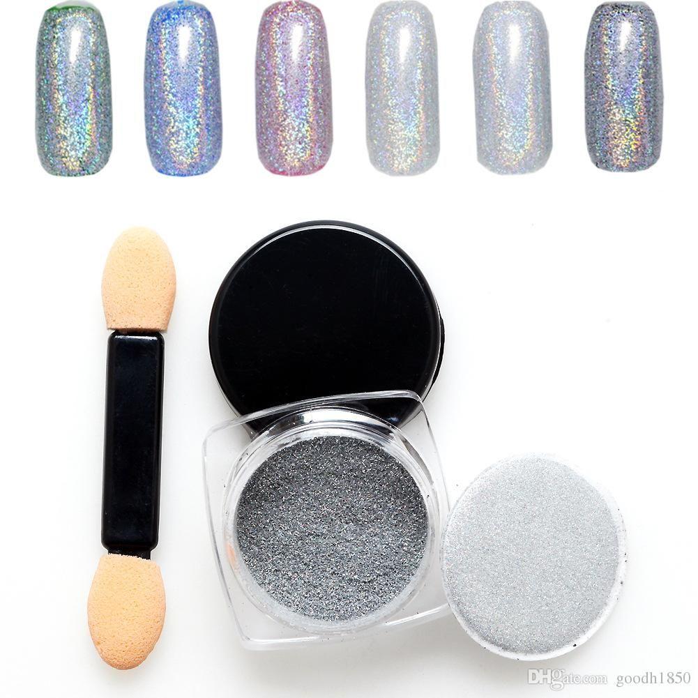 Perle 3 Bottiglia * 1g Specchio Polvere splendente Pigmento in polvere Cromo pigmento Nail Glitter Power Paillettes unghie Decorazioni unghie Facile da usare