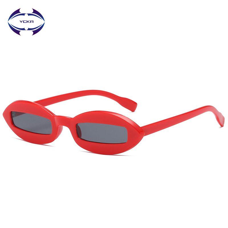 Compre Vcka Gafas De Sol Pequeñas Ovales Mujeres 2018 Diseñador De ...