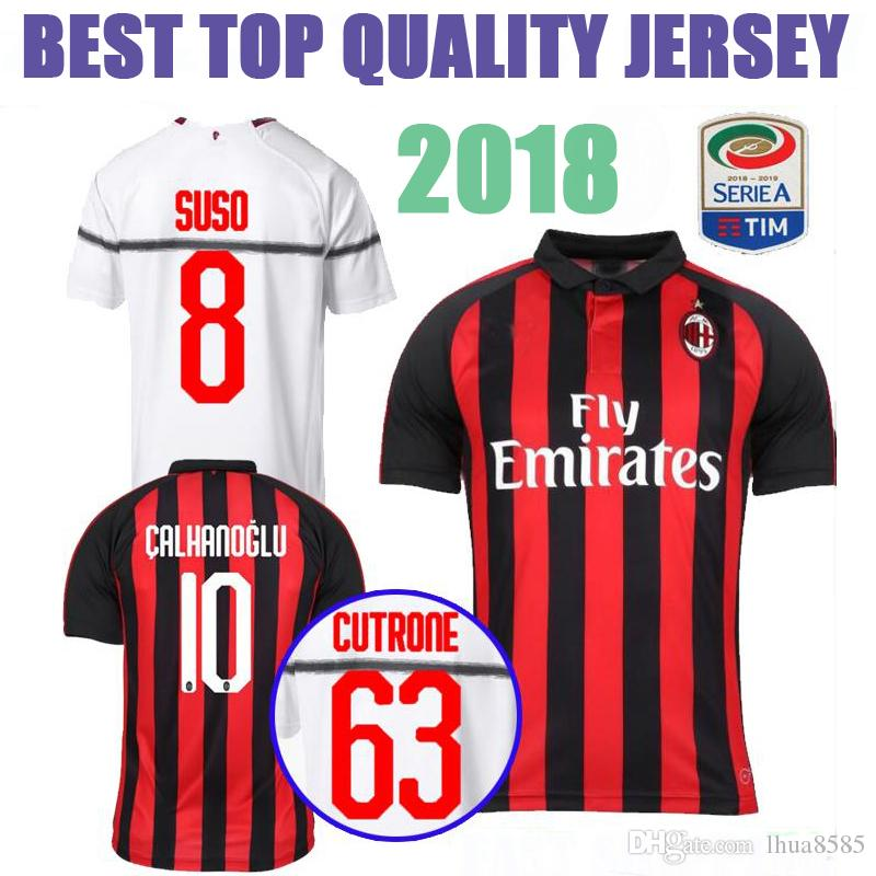 ... coupon best 2018 2019 ac milan home soccer jersey higuain 10 calhanoglu  9 andre silva white 6e5978d5e