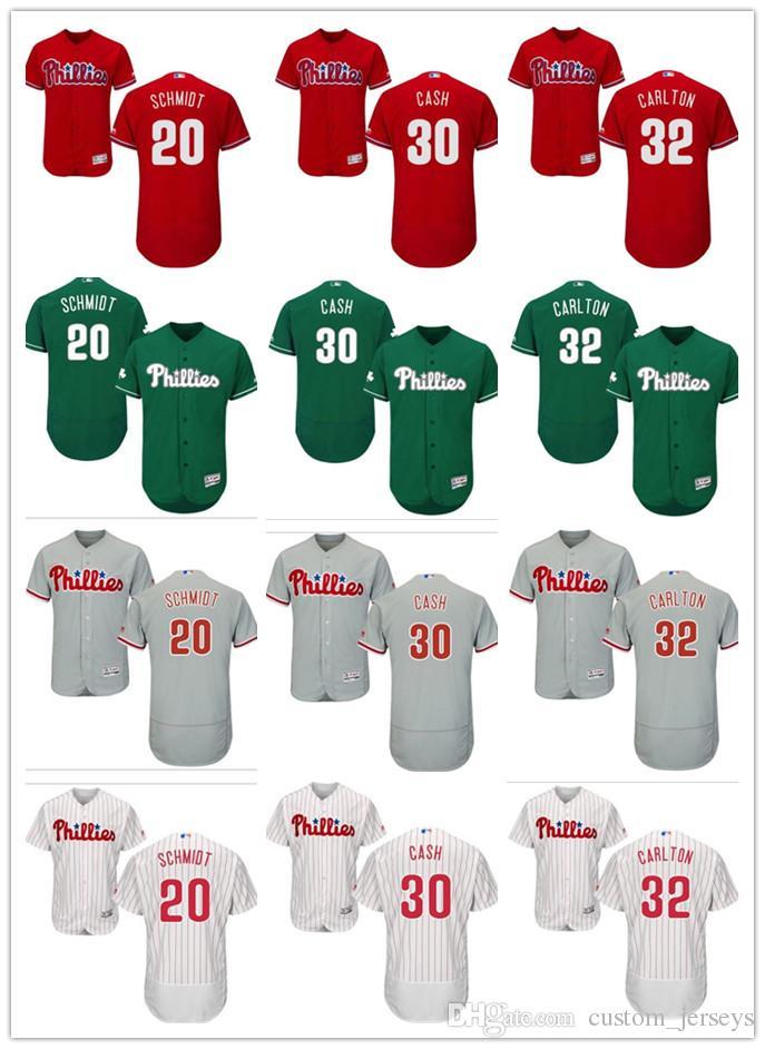 f34a9d71f 2019 Custom Men Women Youth Phillies Jersey #32 Steve Carlton 30 Dave Cash  20 Mike Schmidt Red Black Grey White Kids Girls Baseball Jerseys From  Tenplus, ...