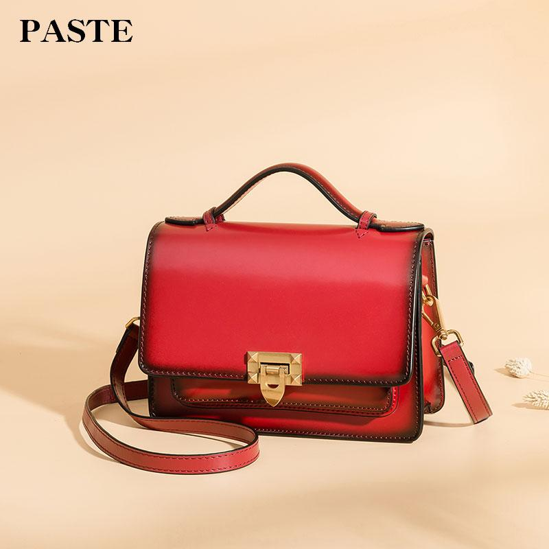 Paste Women Handbags Vintage Crossbody Messenger Bag New Leather ... 560d3df5313aa