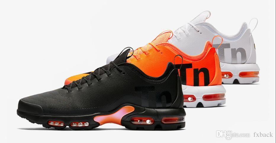 size 40 3b0a4 26a64 New Mens Mercurial Max Plus Tn Ultra SE Black White Orange Desinger Running  Shoes Women MenTrainers Sports Sneakers Size 36 46 Men Shoes On Sale Shoes  ...