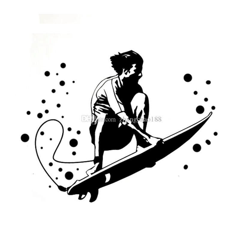 passionated surfing beach sports vinyl sticker car sticker ca-018