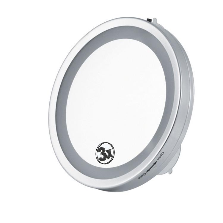 6 Inch 3x Magnifying Led Light Wall Mounted Cosmetic Make Up Mirror