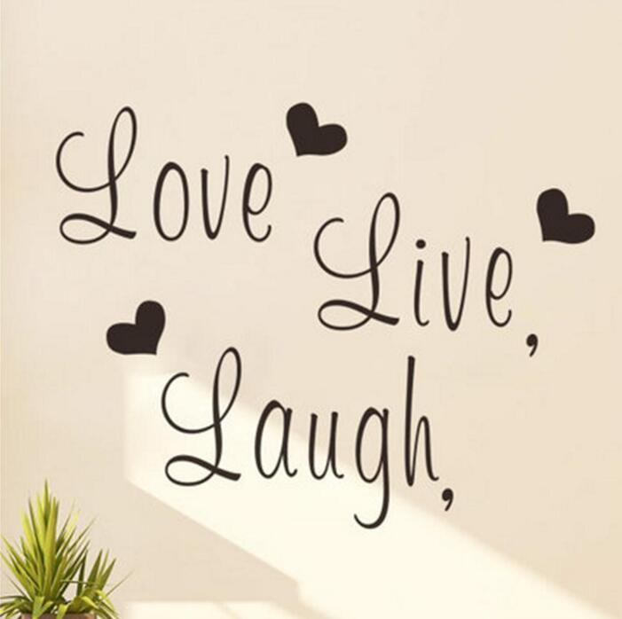 Live Laugh Love Wall Art Part - 15: Live Laugh Love Wall Decal Black Word And Letters Wall Art Stickers Vinyl  Love Themed Decorative Sticker For Living Room And Bedroom Decorative  Decals ...