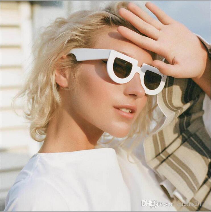 1ceb34d115 White Half Round Sunglasses Women Thick Frame 2018 Black Retro Vintage Sun  Glasses For Women Men Unisex Uv400 Serengeti Sunglasses Sun Glasses From ...
