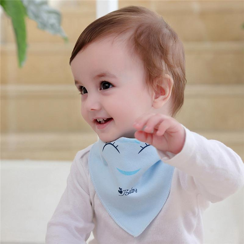 2019 Baby Cute Smile Bib Burp Cloths Cotton Soft E Scarf Character