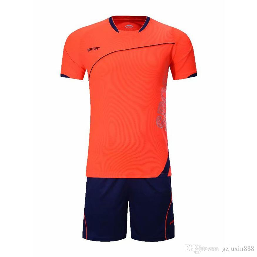 2018 New Style Men Soccer Kits High Quality Breathable Football Shirts And  Shorts Set Brand Male Outdoor Sports Wear Soccer Jerseys UK 2019 From  Gzjuxin888 40921aa12