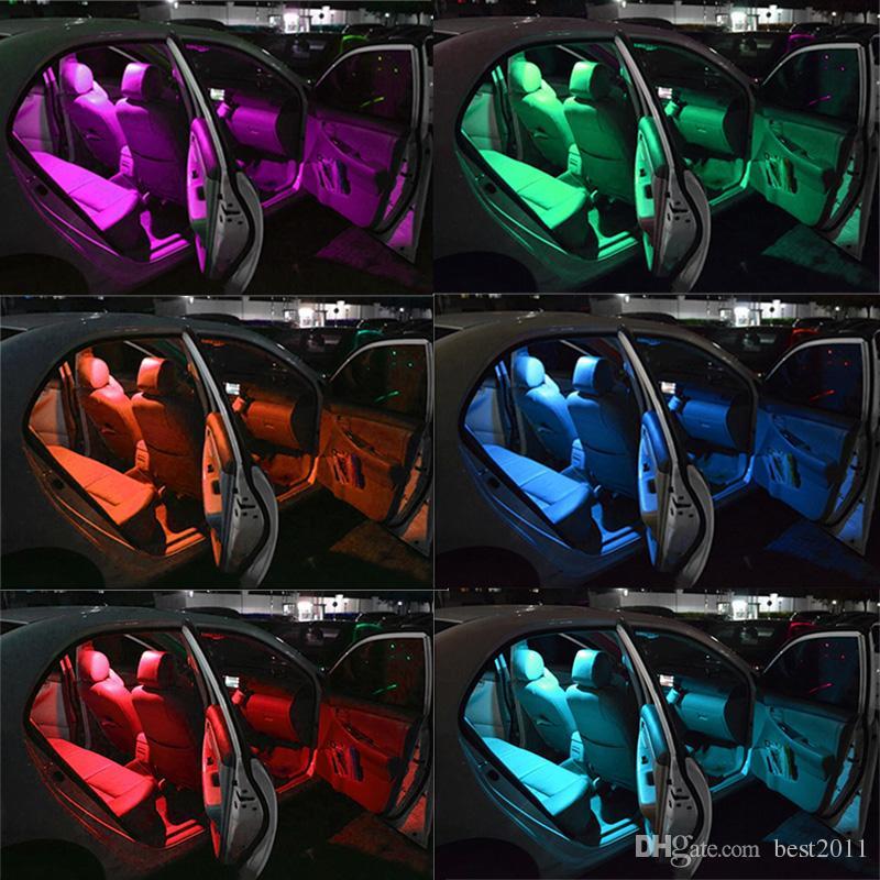 T10 W5W LED-LED-LED-Lampen RGB mit Fernbedienung 194 168 501 Strobe LED-Lampe Lese-Lichter Weiß Red Bernstein 12V