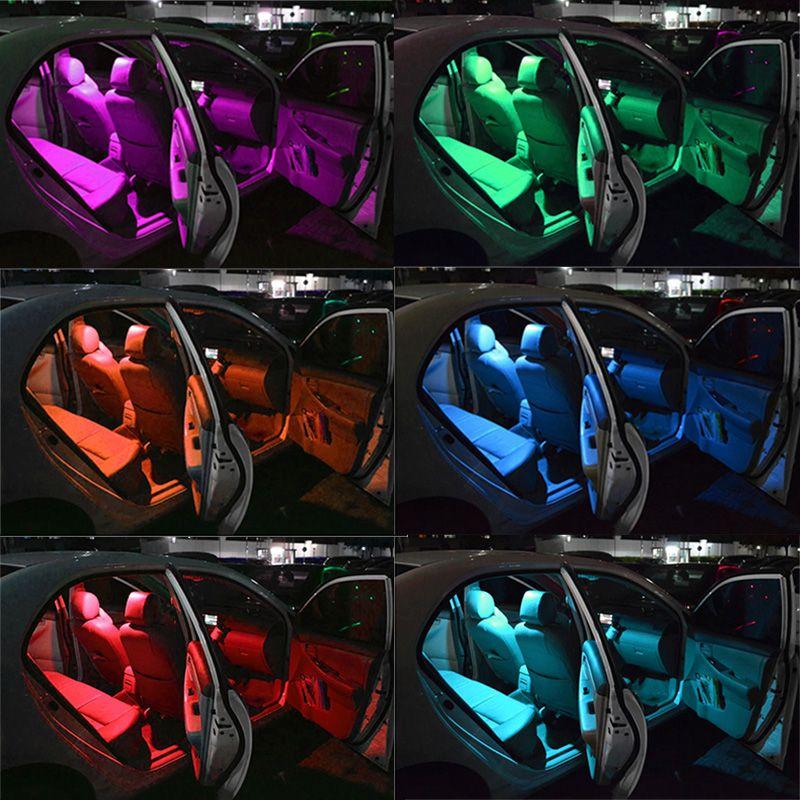 T10 W5W Светодиодные автомобильные фары Светодиодные лампы RGB с дистанционным управлением 194 168 501 Светодиодные лампы для чтения стробоскопов Белый Красный Янтарь 12В