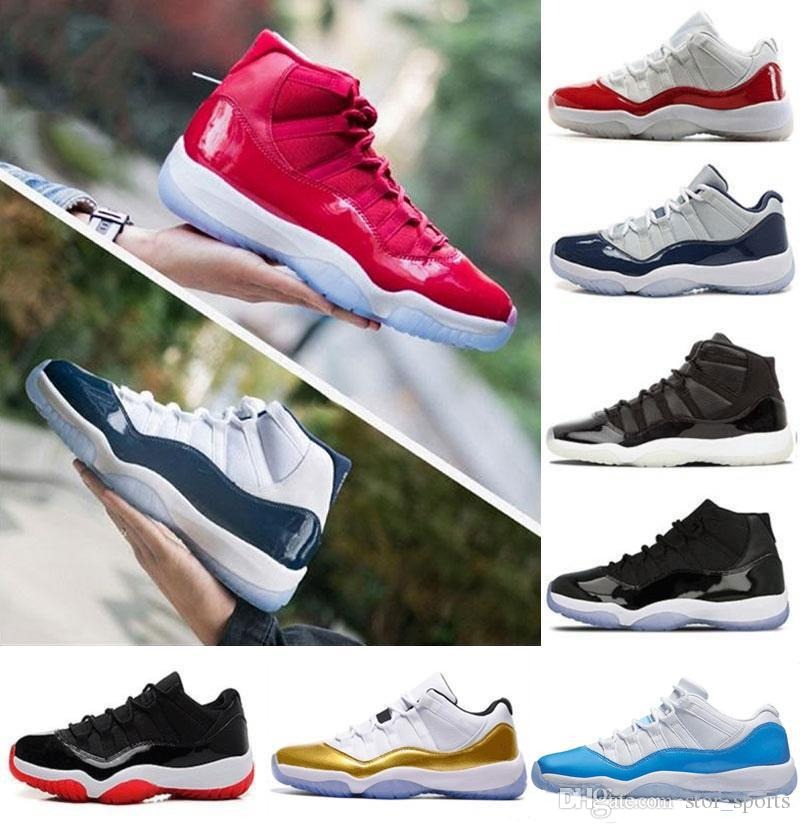 new concept 84eb9 89494 Cheap 2018 Basketball Shoe 11 11s Concord Gym Red Chicago Midnight Navy WIN  LIKE 82 96 UNC Space Jam Mens Sports Sneaker Basketball Shoes Shoes Men  From ...