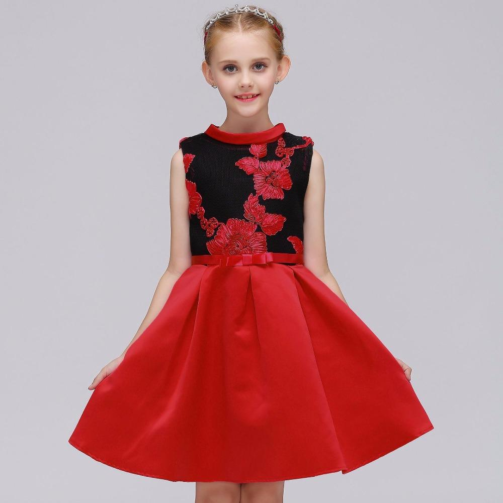 bfb7ece6c 2019 Red Flower Girl Dress For Weddings First Holy Communion Dress ...