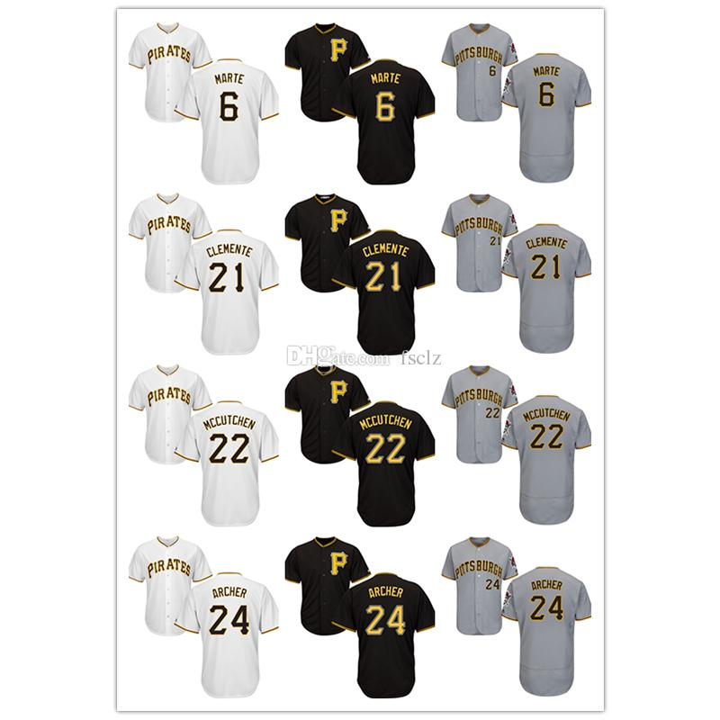 a206cc98f 2019 Mens Pittsburgh Pirates Jersey Majestic Cool Base And Flex Base  Starling Marte Roberto Clemente Chris Archer High Quality Baseball Jerseys  From Fsclz
