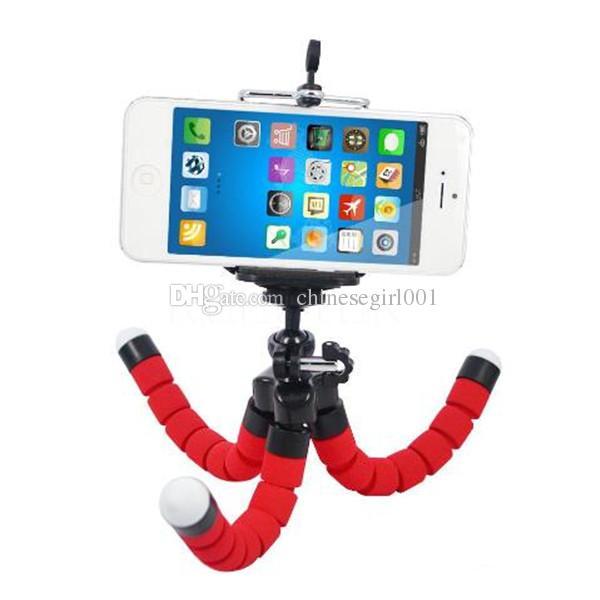 Soporte flexible del teléfono de la cámara mini Soporte flexible del soporte del trípode del pulpo del soporte Monopie para el teléfono elegante del iphone Samsung