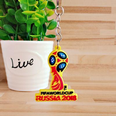 Yeni Gelmesi Rus Dünya Kupası Ulusal Futbol Futbol PVC Anahtarlık Hatıra Yaratıcı Maskot Kolye Anahtarlıklar