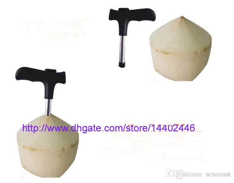 Coconut Opener Tap Young Driller Coco Water Cocoknife Thai Drill Hole Cut Knife strumento di pulizia Stick spedizione gratuita