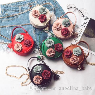 cfbff9190e82 2018 New Flower Princess Purses Girl Handbag Korean Floral Kids ...