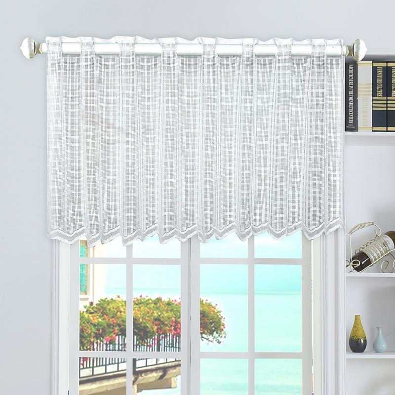 compre urijk cortina cortina cenefa ventana de cocina peque as telas jacquard de organza beige. Black Bedroom Furniture Sets. Home Design Ideas