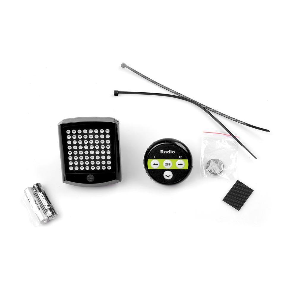 LED Fahrrad Rücklicht USB Blinker Laser Remote Fernbedienung Lampe AAA Battery