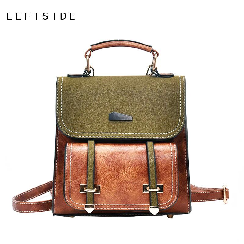 0cb9cf129d LEFTSIDE Cute Small Leather Travel Backpack Purse Style Backpacks For  College School Students Teenager Christmas Gift Small Backpack Backpack  Brands From ...