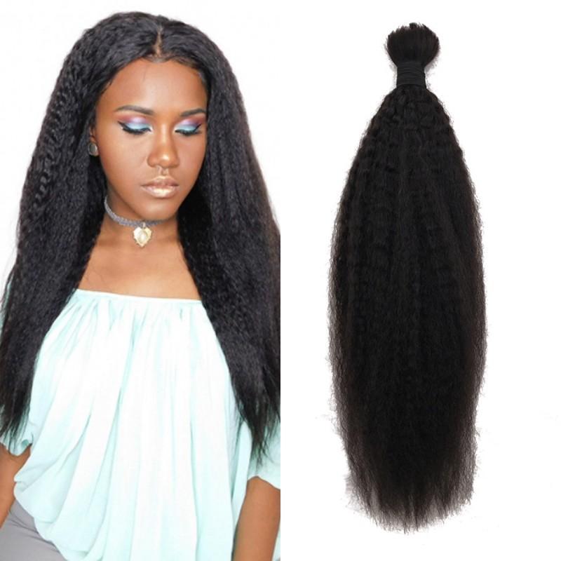 Kinky Straight Human Braiding Hair Bulk No Weft Wholesale Brazilian