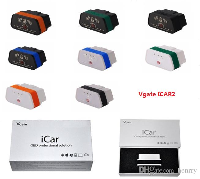 256383dcfedb63 Original Vgate Icar2 Bluetooth ELM327 BT OBD2 Scanner OBDII BT3.0 Protocols  For IPad Android PC Torque DashCommand Car Diagnostic Tool Motorcycle  Diagnostic ...
