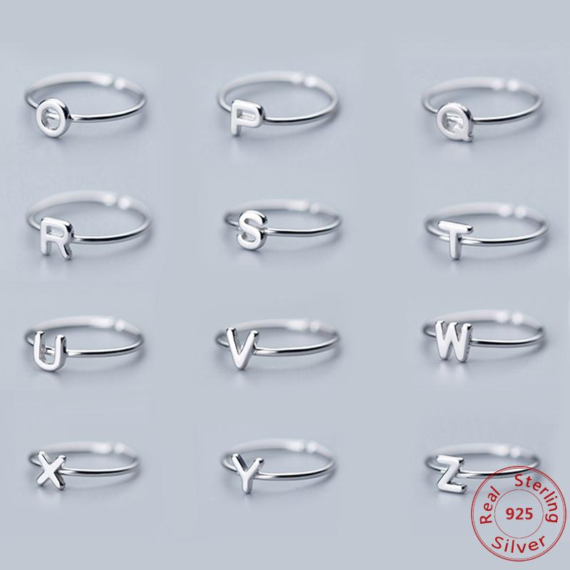 d851714d208390 2019 Fashion Custom Personalized 925 Sterling Silver Alphabet Ring A Z 26 Initial  Letter Name Rings For Women Men Charm Jewelry From Hermane, ...