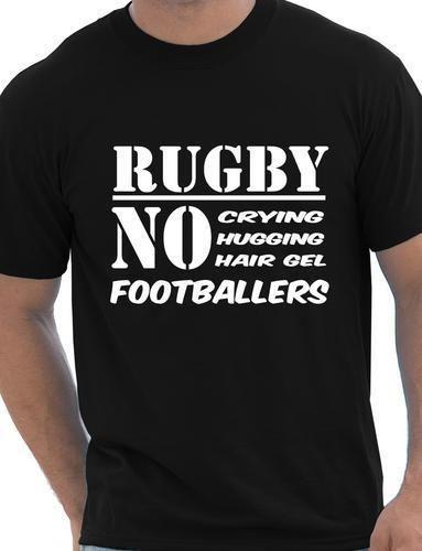 9ab24f1cc38 Funny Mens Rugby Shirt No Footballers Rugby Players Gift Size S XXL Mens T Shirts  Funny Shirts From Designtshirt, $11.17| DHgate.Com