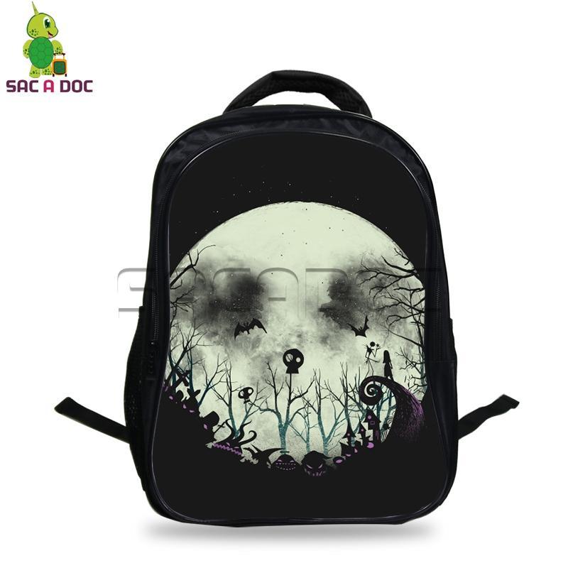 3bc7cba26418 The Nightmare Before Christmas Backpack Skull Jack Outline Backpacks For  Teenagers Children School Bags Students Daily Bookbags Rucksacks Bookbags  From ...