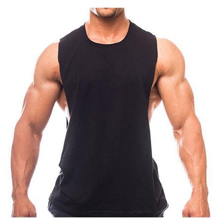 028730c57f088 Stringer Tank Top Men Bodybuilding Fitness Man Solid Sleeveless ...