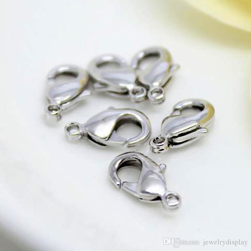 Silber überzogene Metallverschlüsse Jewerly Making Tool Schmuckzubehör Schmuckteil DIY Fertigkeit 10mm 16mm /