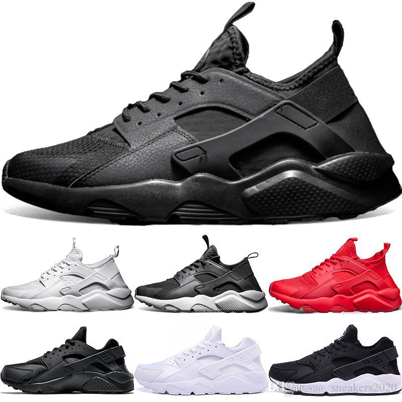 5f9adaa5e5f6 2019 Cheap Air Huarache 1 4 Men Women Running Shoes Ultra Triple Black  White Red Core Oreo Huaraches Designer Trainers Sport Sneaker Size 36 45  From ...