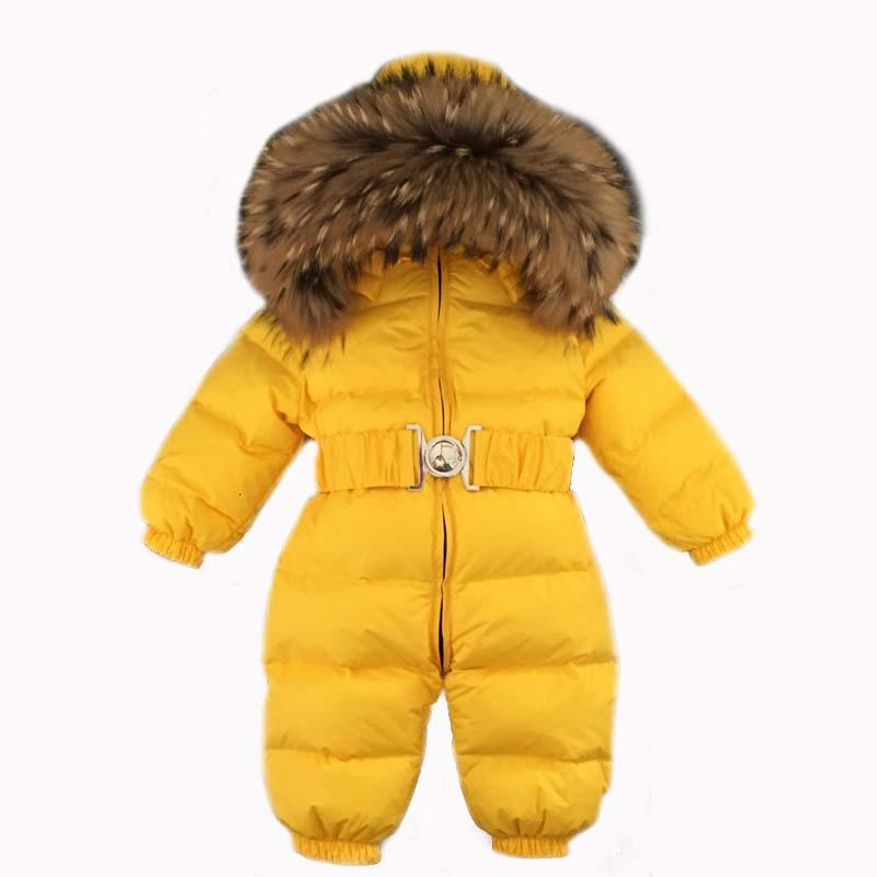 cfb04781f Down Romper Yellow Snowsuit Waterproof Windproof Snow Wear Jumpsuit ...