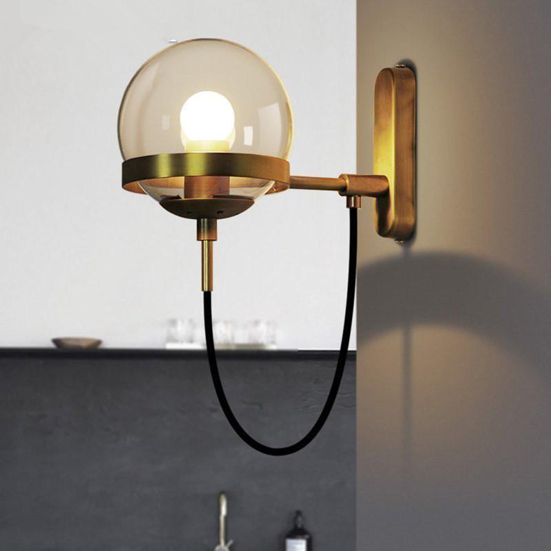 2018 Glass Ball Wall Lamp Bedside Led Sconces Light Fixture Bedroom Luminaria Home Lighting Modern From Alice Wu10 136 29 Dhgate Com