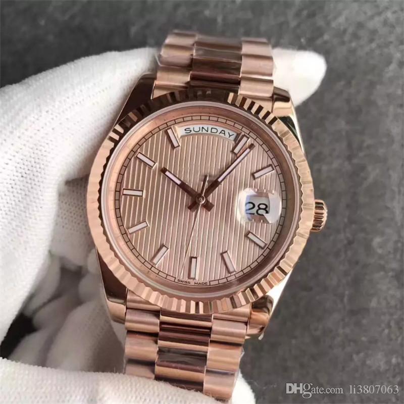d7f22078d87 Compre 2018 Luxo 18 K Full Rose Gold Fecho Original Mens Relógios Day Date  Presidente 116719 Automático Mecânica Relógios MEN Frete Grátis De  Li3807063