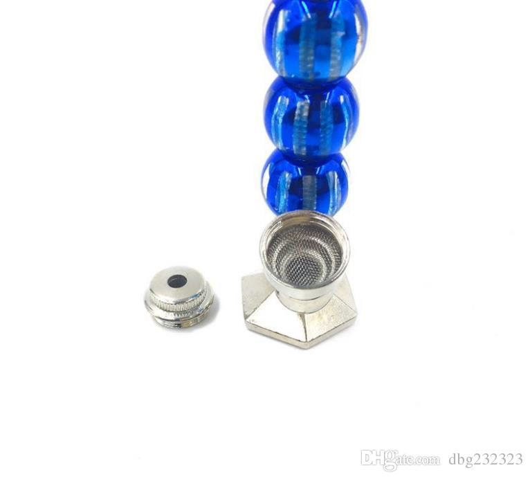 Stand three beads of color five color ball vertical pipe angle base metal pipe smoking