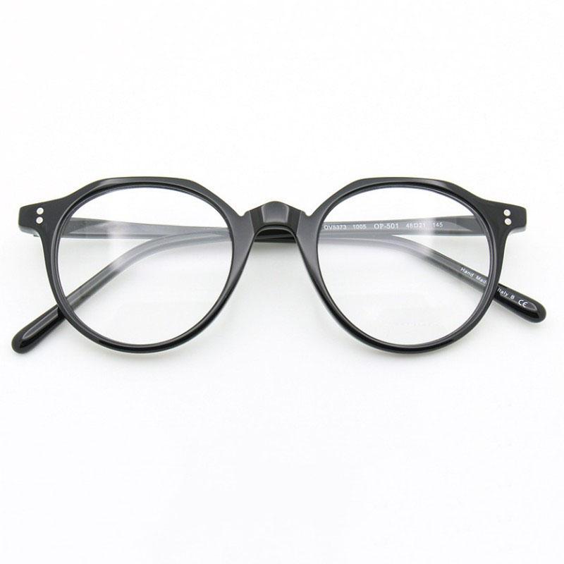 Acheter 2018 NOUVEAU OV5373 Eey Glaaase Cadres Femmes Hommes Top Qualité  Ronde Vintage Lunettes Optique Oculos Ordinateur Sur Ordonnance Myopie De   84.13 Du ... 38677eb8a5dc
