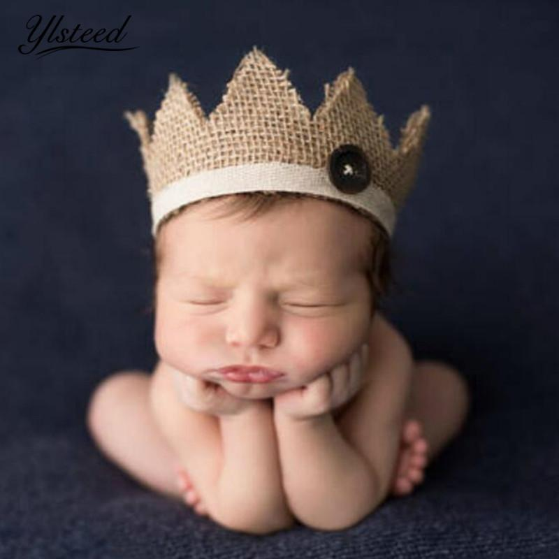 144f3003d58 2019 0 2 Years Old Newborn Photography Props Baby Crown Hat For Photoshoot  Natural Retro Baby Boys Girls Photo Props Crown Headwear From Newyearable