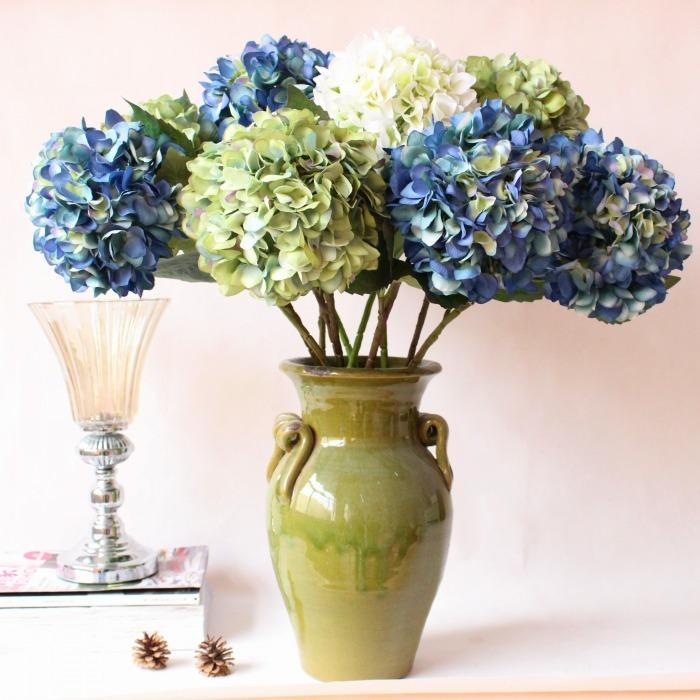 Best big artificial hydrangea faux silk flowerwedding party best big artificial hydrangea faux silk flowerwedding party christmas home decoration flowers arrangement under 1116 dhgate mightylinksfo