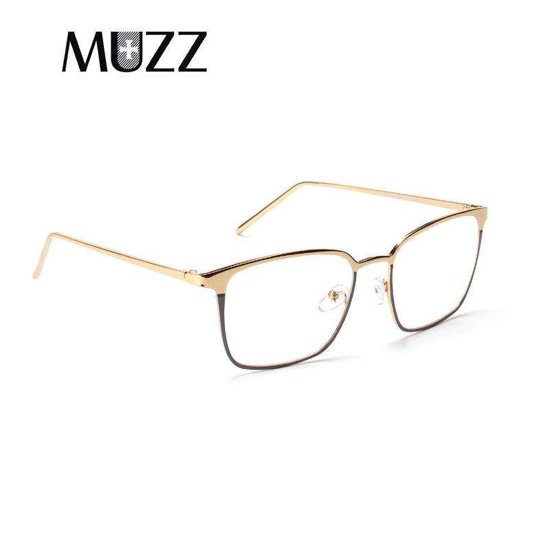 5a4e9ef62f46 2019 MUZZ Metal Full Rim Eyeglass Frames Square Glasses Frames Glasses  Spectacle Frame Transparent Prescription Myopia Lenses From Mudiaolan, ...