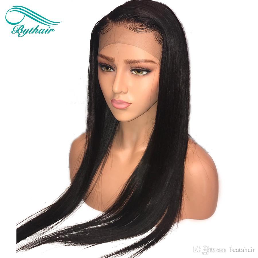 Bythair Full Lace Perruques Avec des Cheveux de Bébé 100% Non Transformés Brésiliens Vierge Perruques de Cheveux Humains Pour Les Femmes Noires Dentelle Avant Perruque