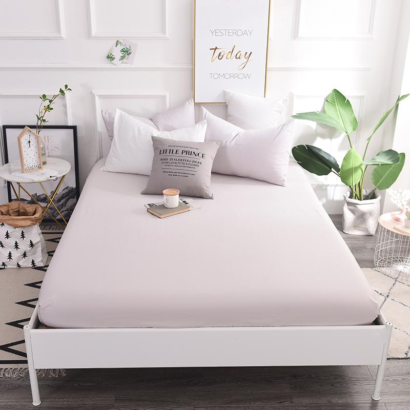 Delightful Bedding Outlet Mattress Cover Fitted Sheet Bedding Bed Sheet Simple Silver  Solid Color Mattress Protector Cotton 4 Size Bedspread Cheap Bedspread  Bedding ...