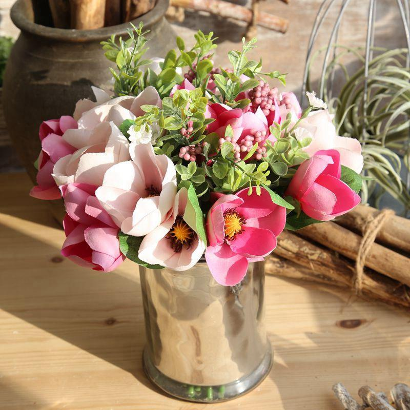 2019 Artificial Flower Magnolia Wedding Home Decorative Party