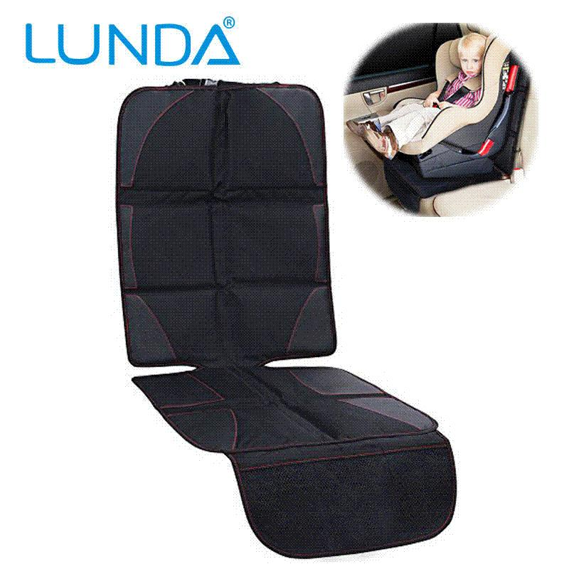LUNDA Luxury Leather Car Seat Protector Child NbspOr Baby Cover Easy Clean Safety Anti Slip Universal Black Back Of
