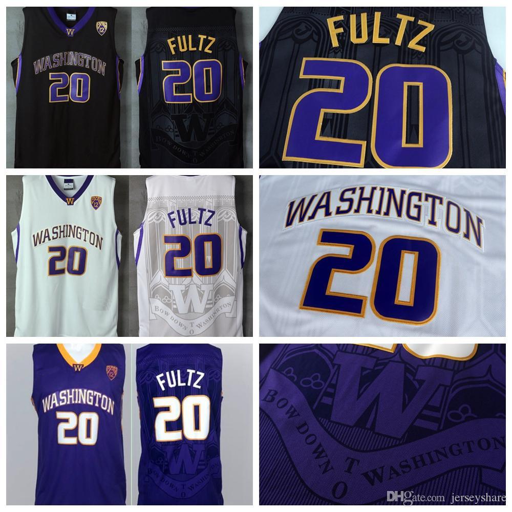 2017 Washington Huskies Markelle Fultz Jersey High Quality Mens University   20 Markelle Fultz College Basketball Jerseys Black White Purple Markelle  Fultz ... 4d84e192a
